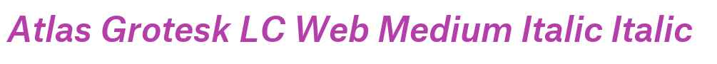 Atlas Grotesk LC Web Medium Italic