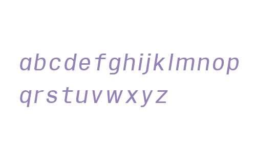 Sequencia W00 Italic