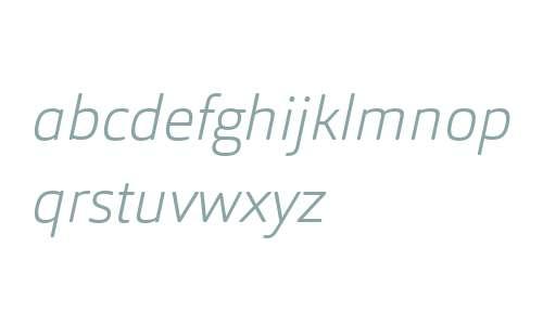 Orgon W03 ExtraLight Italic