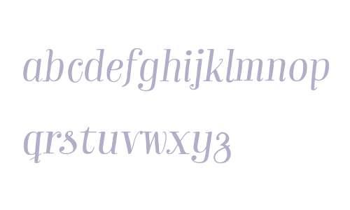 Garden W03 Pro Italic