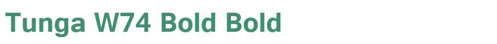 Tunga W74 Bold