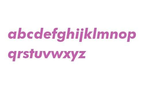 FuturaBT W04 Heavy Italic