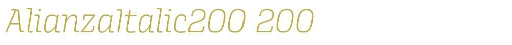 AlianzaItalic200