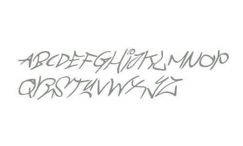 Graffiti Street Super-Italic