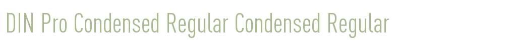 DIN Pro Condensed Regular