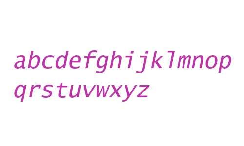 Lucida Sans Typewriter Std Oblique