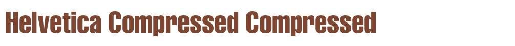 Helvetica Compressed