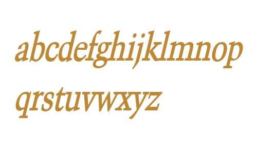 Congo Thin Bold Italic