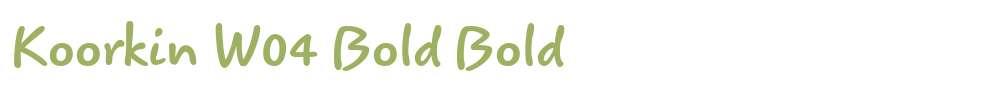 Koorkin W04 Bold