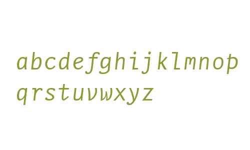 NexusTypewriterWeb W03 Italic