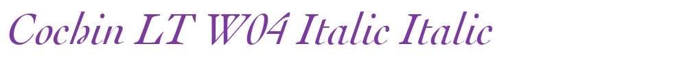 Cochin LT W04 Italic