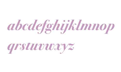 Bodoni Seventytwo ITC Bold Italic OS