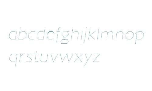 Jillican W00 UltraLight Italic