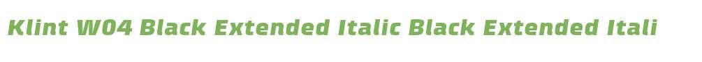 Klint W04 Black Extended Italic