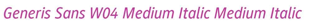 Generis Sans W04 Medium Italic