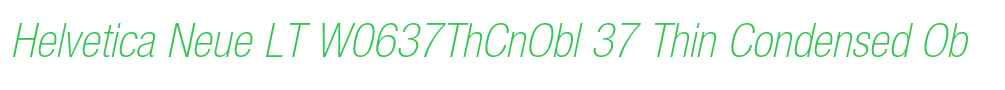 Helvetica Neue LT W0637ThCnObl