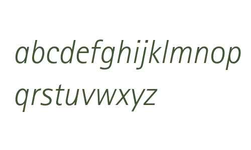 Rotis Sans Serif Light Italic 46