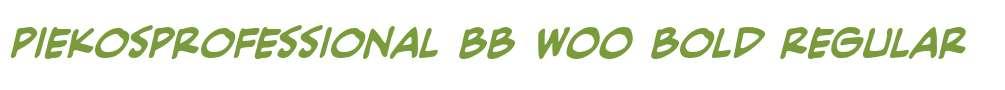 PiekosProfessional BB W00 Bold