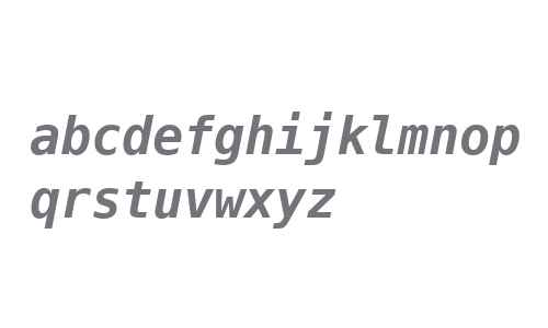 Bitstream Vera Sans Mono Bold Oblique V1