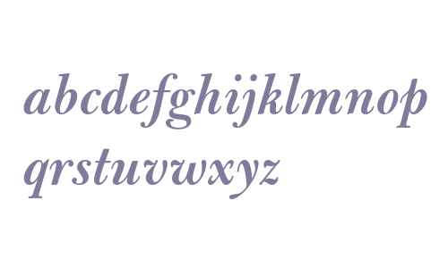 Bulmer MT Semi Bold Italic