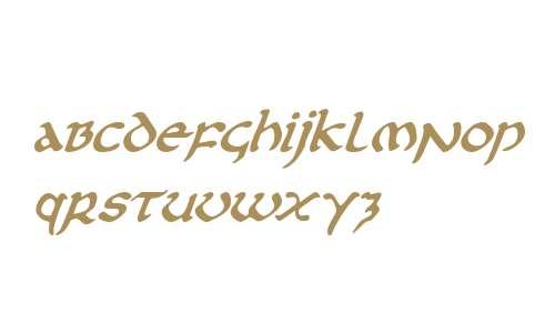 First Order Plain Italic