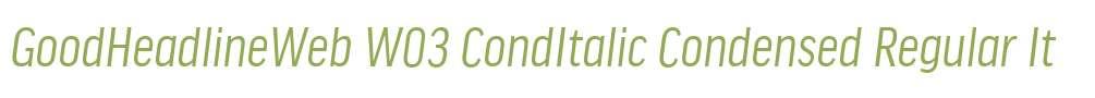 GoodHeadlineWeb W03 CondItalic