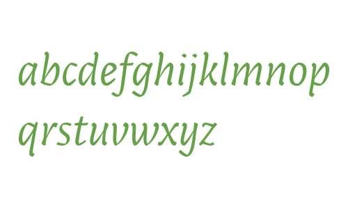 Paiper W00 Regular Italic