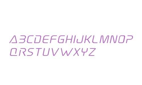 Elite Danger Semi-Bold Expanded Italic