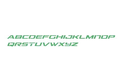 Outrider Condensed Italic Condensed Italic