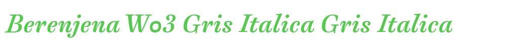 Berenjena W03 Gris Italica