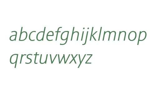 Sinova W01 Light Italic