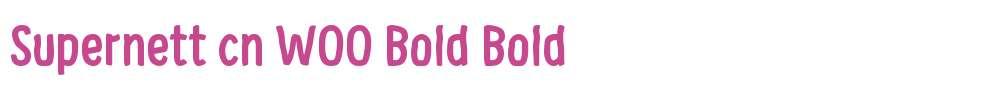 Supernett cn W00 Bold