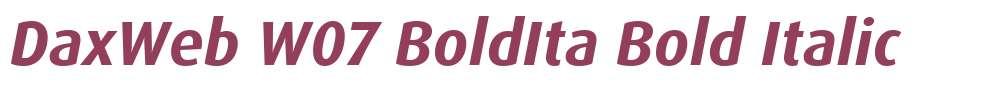 DaxWeb W07 BoldIta