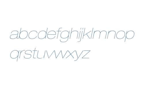 Helvetica Neue LT Com 23 Ultra Light Extended Oblique V2