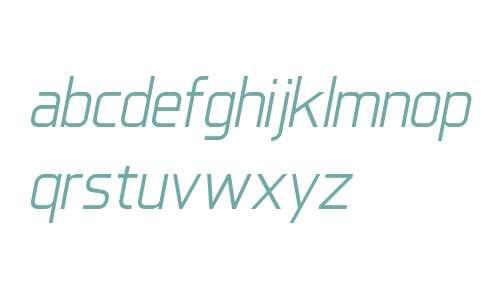 IkiruSans W00 Regular Italic