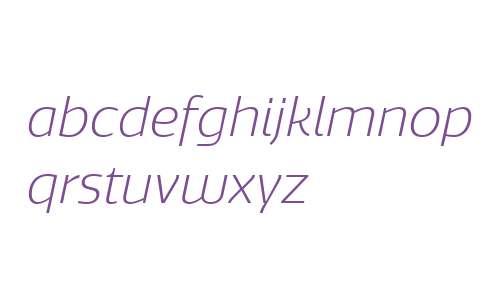 Quatro W00 Light Italic