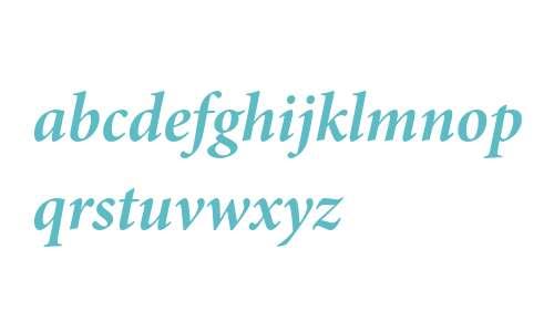 Minion Pro Bold Italic Subhead