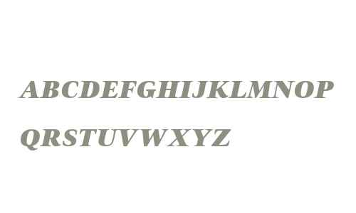 Civita W01SC ExtraBold Italic