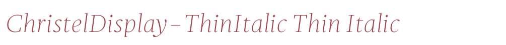 ChristelDisplay-ThinItalic