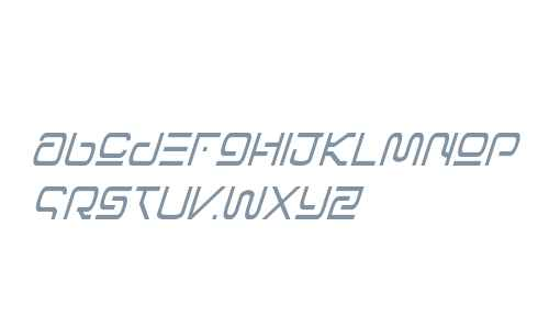 Foreign Alien Condensed Italic