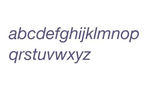Helvetica Neue LT Com 56 Italic V2