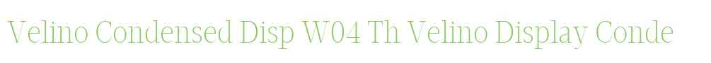 Velino Condensed Disp W04 Th