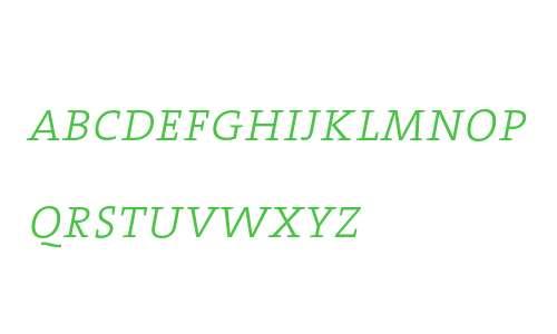 TheSerif ExtraLight Caps Italic