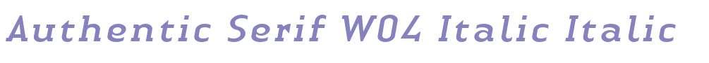 Authentic Serif W04 Italic