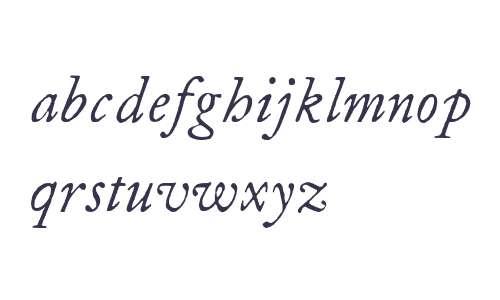 ITC Founders Caslon 12 Italic
