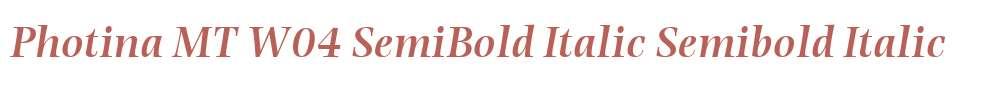Photina MT W04 SemiBold Italic