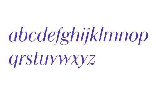 Chong Modern W04 Italic