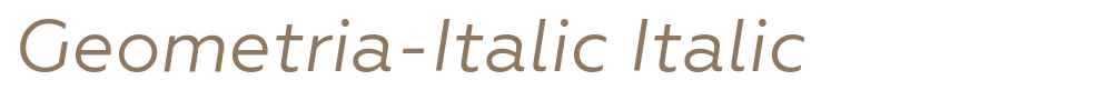 Geometria-Italic