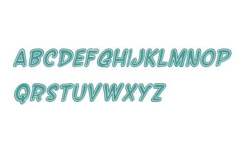 SF Wonder Comic Inline Italic V2
