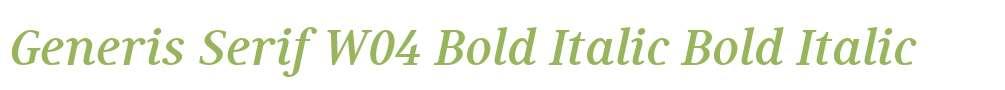Generis Serif W04 Bold Italic